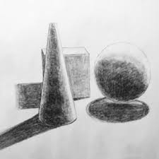 basic geometric shape still life drawing from observation â