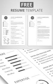 free templates resume free minimalistic cv resume templates with cover letter template