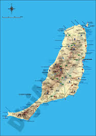 Canary Islands Map Map Of Map Of Fuerteventura Island Canary Islands