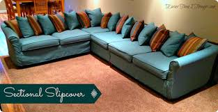 Sofa With Chaise Slipcover Sectional Sofa With Slipcover Centerfieldbar Com