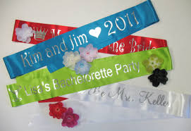personalized sashes personalized sashes choose style and colors personalized sashes