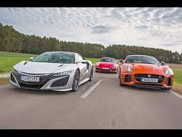 jaguar f type vs porsche 911 2016 honda nsx vs jaguar f type svr vs porsche 911 turbo s car
