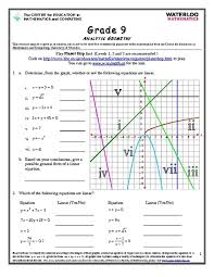 ideas of grade 10 analytic geometry worksheets on free download