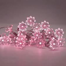 solar powered led fairy lights buy pink solar powered led fairy lights with decorative flowers of