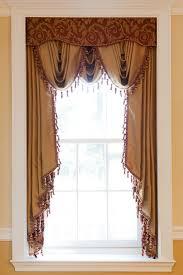 Window Cornice Styles 3 Scoop Valances 2 Long Jabots Under Fabric Cornice Drapes