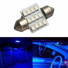 car dome light bulbs interior lights 12v 12smd festoon 12 led dome map light bulb blue