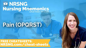 opqrst emt opqrst nursing mnemonics nursing school study tips youtube