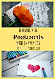 learning with postcards while on vacation my poppies