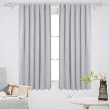 Blackout Curtains White Amazon Com Deconovo Back Tab And Rod Pocket Curtains Blackout