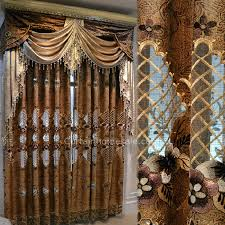 Brown Gold Curtains Luxury Vintage Living Room Curtain In Gold Brown Color