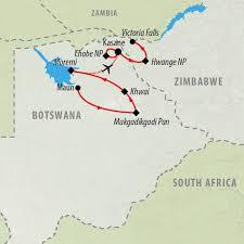 Botswana Map Botswana Tours And Safari Holidays On The Go Tours From Uk