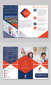 3 fold brochure design for fortune educations infographic design