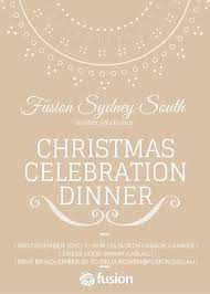 christmas celebration dinner invite u2013 fusion south east melbourne