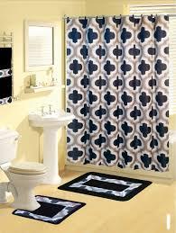 shower curtains 17 pcs set contemporary bath mat contour rug hooks