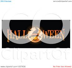 Halloween Banner by Cartoon Of A Halloween Banner With A Jackolantern Pumpkin Wearing