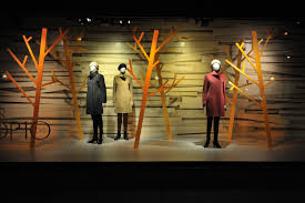 window displays for banana republic vintage hats and printed