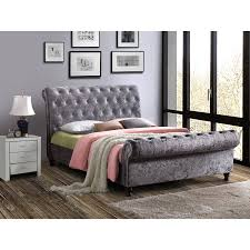 Fabric Sleigh Bed Upholstered Beds Up To 60 Off Rrp Next Day Select Day Delivery
