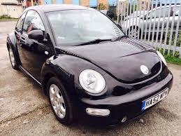 vw beetle petrol manual leather seats 78000 miles black in
