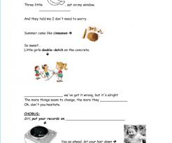 worksheet put your records on by corine bailey rae