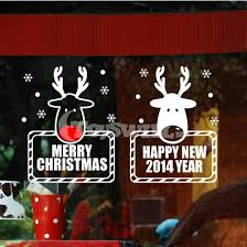 Cheap Christmas Decorations For Windows by Cheap Window Decorative Stickers For 2013 Christmas Window Glass