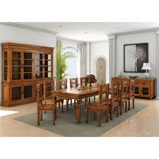 Dining Room Sets Solid Wood by Francisco Handcrafted Solid Wood 13 Piece Dining Room Set