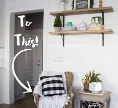 diy shiplap wood paneling accent wall behr