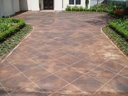 Stain Old Concrete Patio by Stained Concrete Floors Stamped Artistry Houston Tx