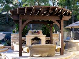 12 x 16 pergola kit with fireplace seating area