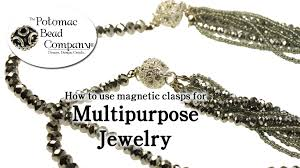 How To Make Magnetic Jewelry - how to use magnetic claspse for making multi purpose jewelry youtube