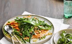 cuisine truite truite saumonée aux légumes verts cuisine et recettes recette