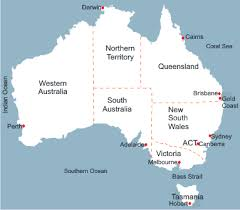 australia map capital cities australia map with capital cities major tourist