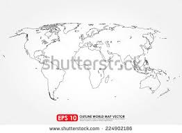 outline of world map world map outline stock images royalty free images vectors