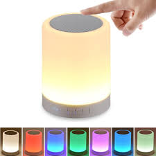 Led Bedside Lamp Amazon Com Shava Night Light With Bluetooth Speaker Portable