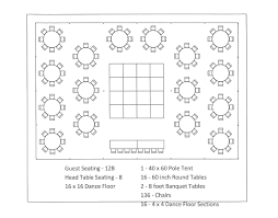 40 x 60 pole tent seating arrangements