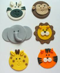 safari cake toppers 12 edible fondant safari jungle zoo animal by sugarkisscaketoppers