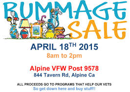 donations wanted for the alpine vfw rummage sale april 18 2015