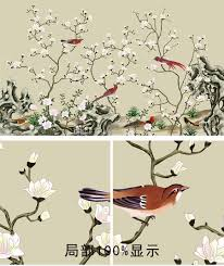 Wallpaper Shop Chinese Painting Wallpaper Custom 3d Wallpaper Flowers And Birds