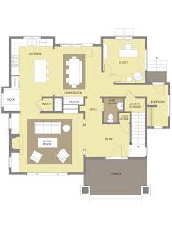 the tumalo bungalow design first floor plan craftsman style