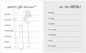 20 free menu planner printables fab n u0027 free