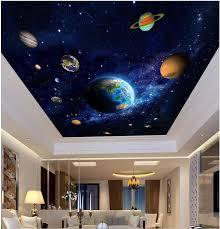online get cheap 3d wall murals planet aliexpress com alibaba group 3d ceiling murals wall paper picture blue planet space painting decor photo 3d wall murals wallpaper