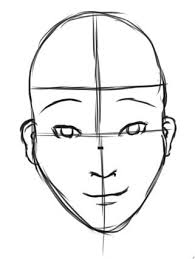 how to draw a human face