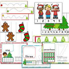 christmas math u0026 literacy centers for pre k preschool bundle