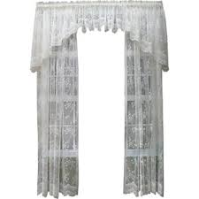 White Lace Valance Curtains Rooster Lace Curtains Wayfair