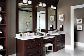 Bathroom Vanity With Seating Area by Bathroom Dark Double Bathroom Vanities With Makeup Area Under 2