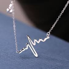 silver girls necklace images Rhodium plated heartbeat necklace sterling silver heartbeat jpg