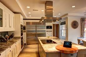 innovative granite cutting board in kitchen transitional with