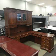 l shaped desk with hutch right return maverick l shaped desk right return w hutch espresso w white