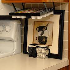 kitchen under cabinet storage amazon com coffee keepers under cabinet k cup holder