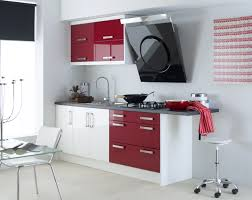 nice red and white kitchen cabinets modern small newest cabinet