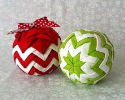 Quilted Christmas Ornament Patterns Cosmic Designs Quilted Ball Ornament Chevron Style
